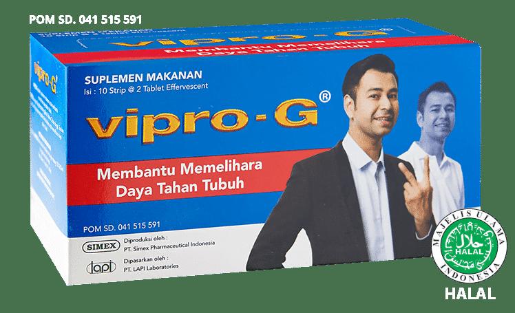 vipro-g dengan epigalo, taurine zinc dan vitamin c cegah radikal bebas dan jaga daya tahan tubuh